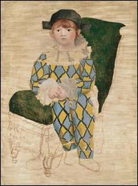 Paul en Arlequin, Picasso